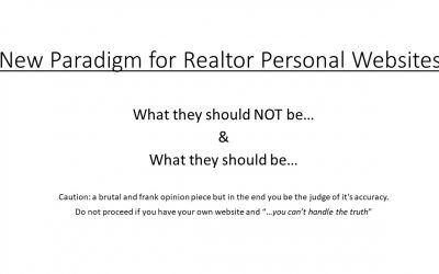 New Paradigm for Realtor Personal Websites
